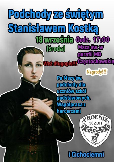 św. Stanisław Kostka w parafii Matki Bożej Częstochowskiej.